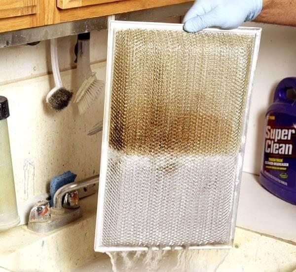 limpieza de filtros en la campana
